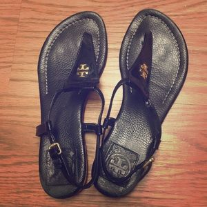 Tory Burch patent leather sandals